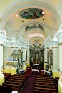 interiér Kostola sv. Klimenta zo spodného chórusa